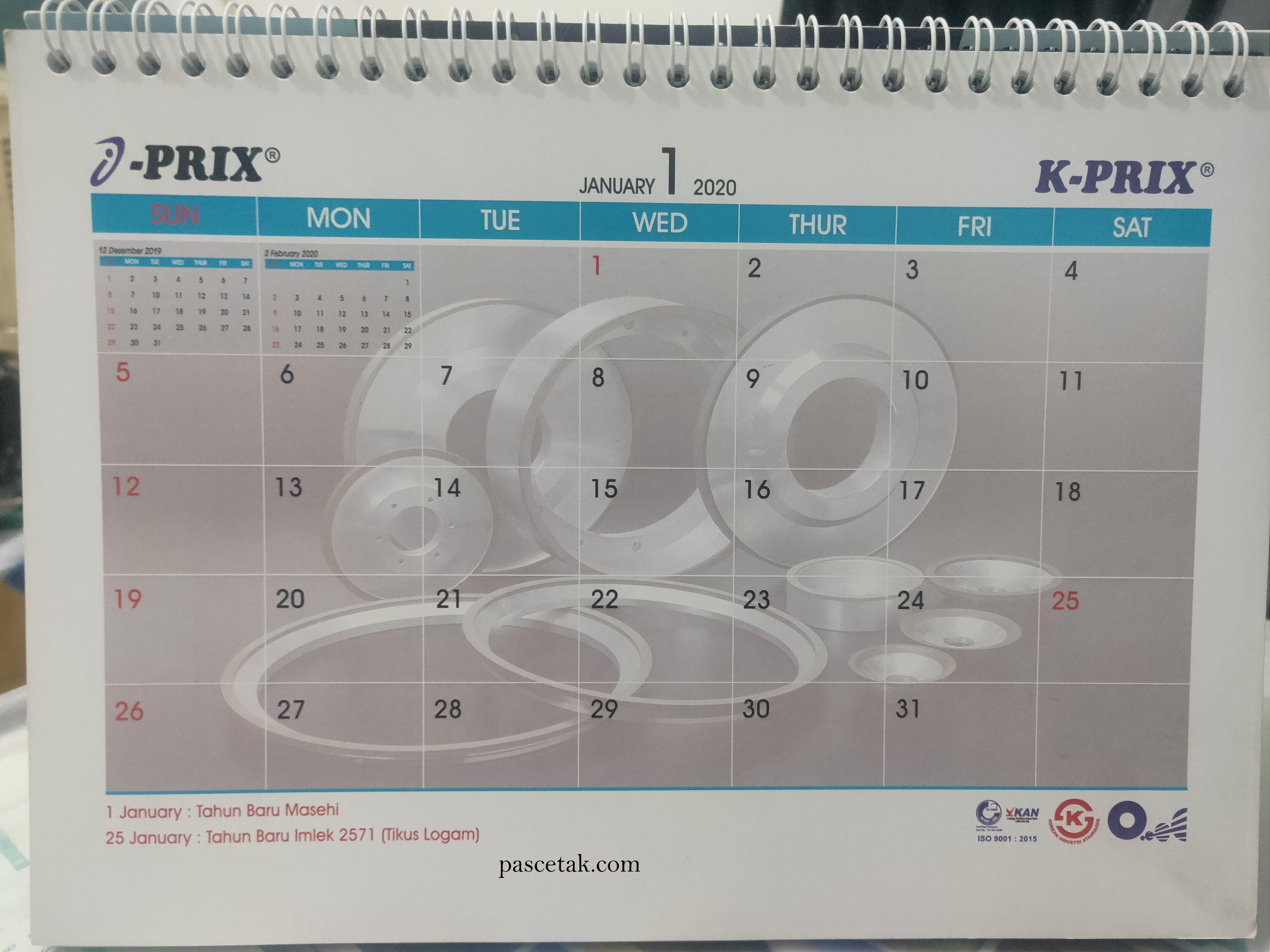 Jasa Cetak Kalender Murah Di Bekasi